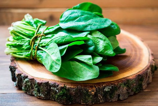 Spinach is a great source of iron